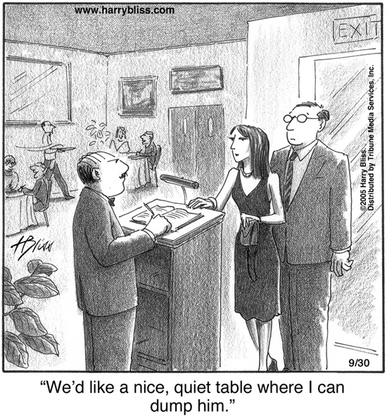 We'd like a nice quiet table