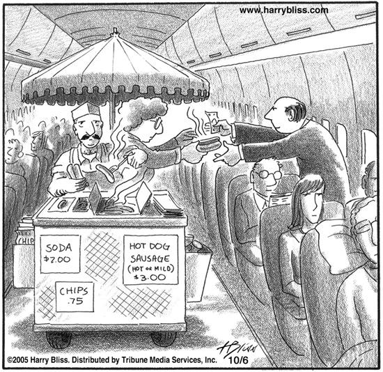 In flight hotdogs