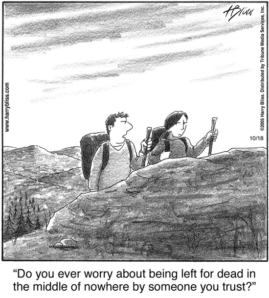 Do you ever worry about being left for dead...