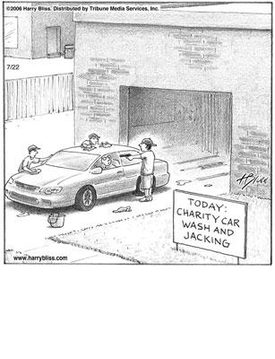 Charity car wash and jacking