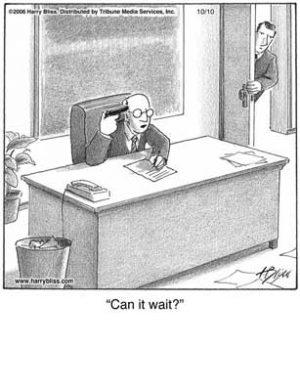 Can it wait?