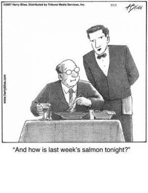 last week's salmon
