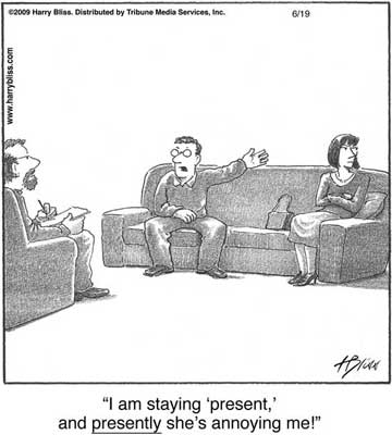 I am saying 'present'