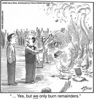 we only burn remainders