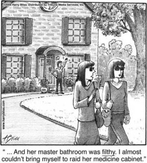 her master bathroom was filthy