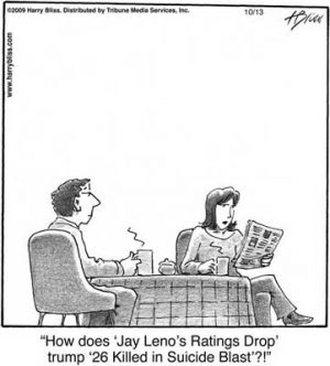 How does 'Jay Leno's ratings drop...