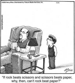 If rock beats scissors...