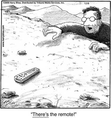 There's the remote!