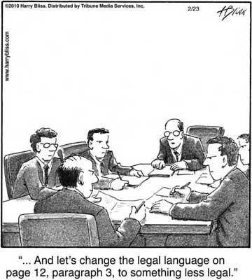 lets change the legal language