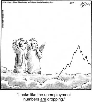 unemployment numbers are dropping...