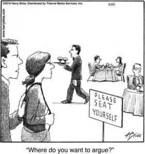 where do you want to argue?