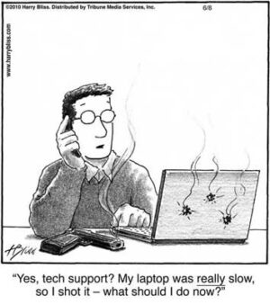 My laptop was really slow...