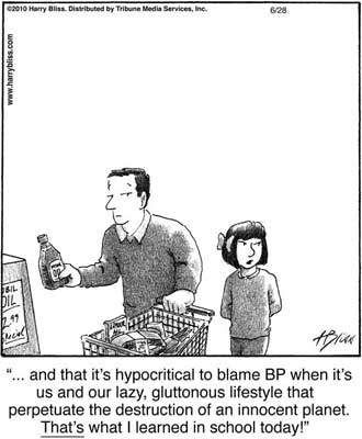 its hypocritical to blame BP