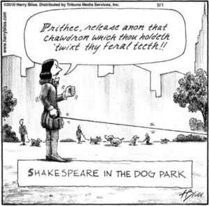 Shakespeare in the dog park