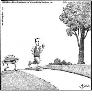 Jogging burger