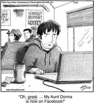 Oh great... my aunt Donna...