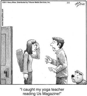 I caught my Yoga teacher...
