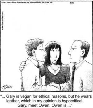 Gary is vegan...