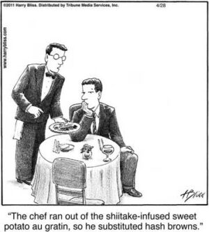 The chef ran out of...