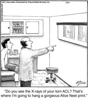 Do you see the X-rays of your torn ACL?