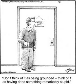 Don't think of it as being grounded...