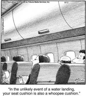In the unlikely event of a water landing...