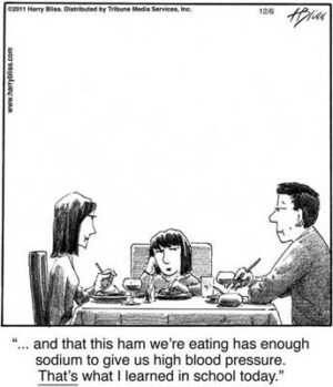 and this ham we're eating...