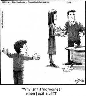Why isn't it 'no worries'...