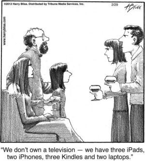We don't own a television...