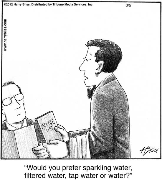 Would you prefer sparkling water...