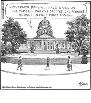 California's budget deficit...