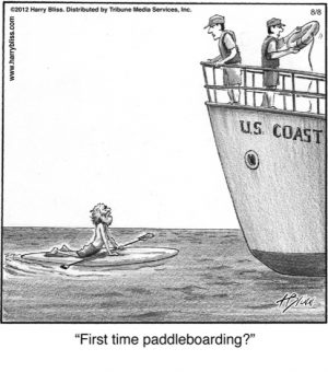 First time paddleboarding?