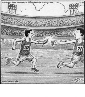 Men's relay...