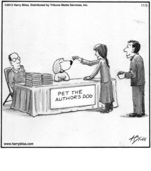 Pet the author's dog...