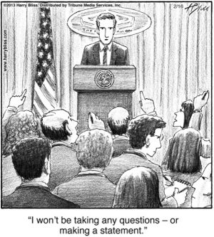 I won't be taking any questions...