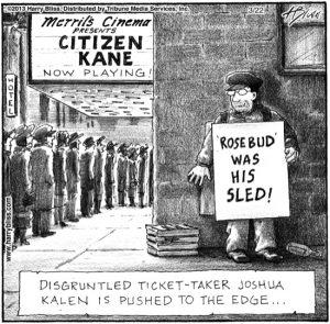 Disgruntled ticket-taker...