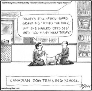 Canadian dog training...