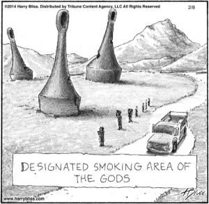 Designated smoking area...