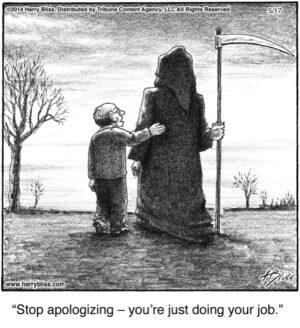 Stop apologizing...