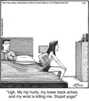 Ugh. My hip hurts...