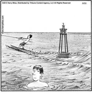 Water ski...