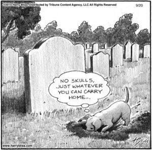 No skulls...