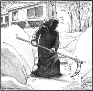 The snow reaper...
