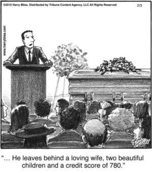 He leaves behind...
