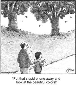 Put that stupid phone away...