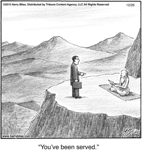 You've been served...