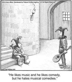 He likes music...