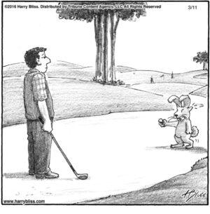 Rabbit golf...