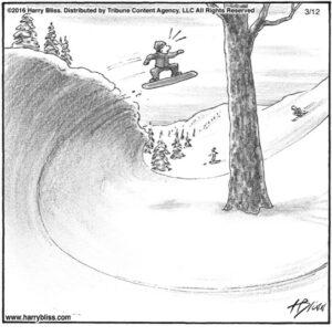Surfing snow...