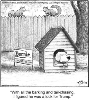 With all the barking...